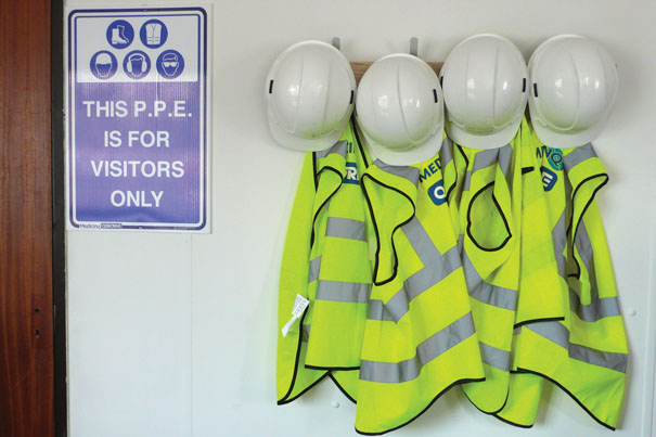 PPE clothing on site